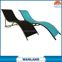 aluminium stackable beach lounger