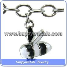 Wholesale bees style stainless steel charms (CH271-4)