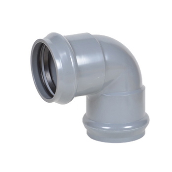 UPVC PVC Plastic Pipe Fitting 10 Inch 90 Degree Elbow Dimensions With Rubber Ring