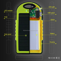 Popular digital product solar battery charger 5000mah water resistance power bank led street light for iphone 6