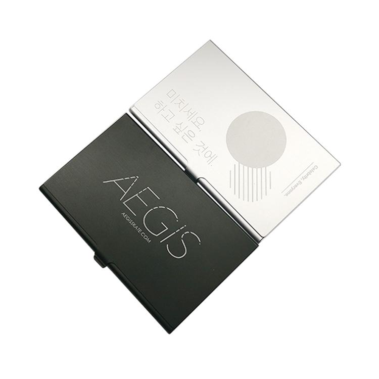Custom Logo Rfid Blocking Metal Aluminum Business Card Holder Case