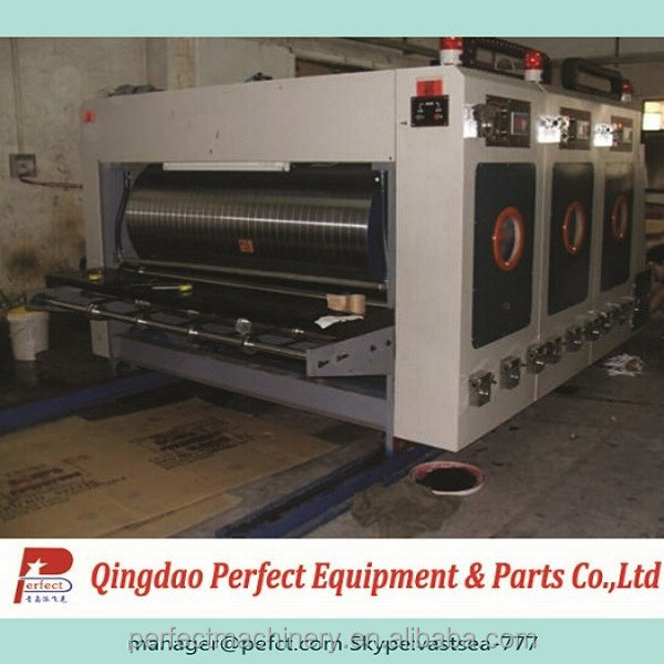 2 color corrugated cardboard flexo printing machine