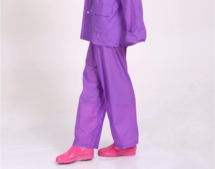 Один слой в разрез дождевики дождь брюки пвх прозрачный электрическая автомобили взрослые плащ один человек rianwear