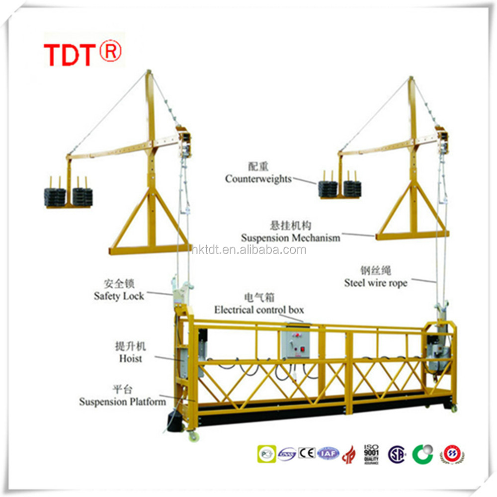 zlp series suspended working platform with CE certificate