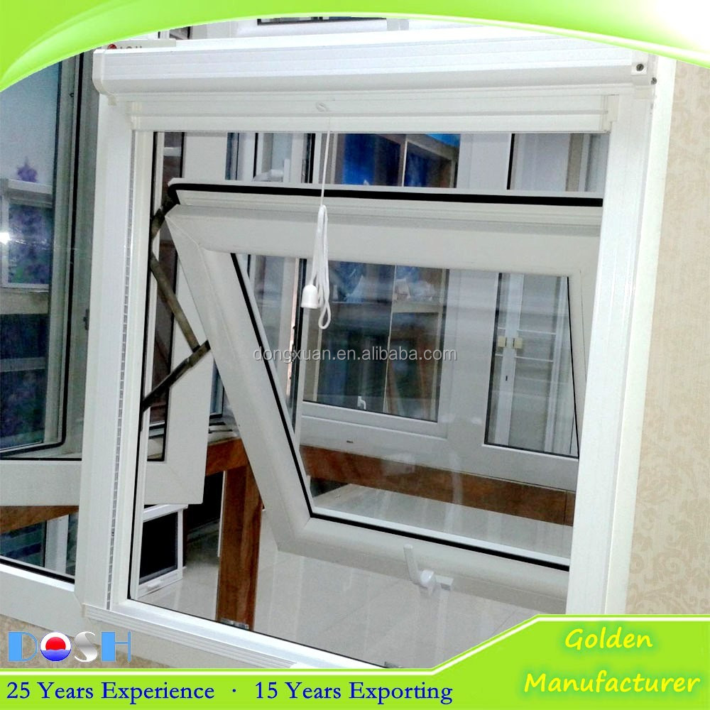 Upvc Pvc Windows Awning Windows With Mosquito Net For