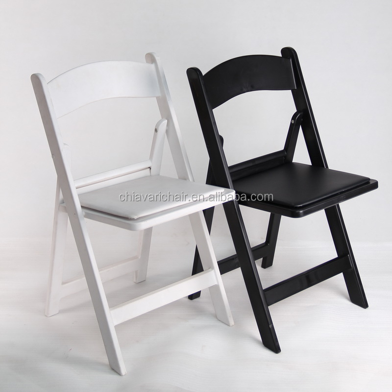 White Resin Plastic Wedding Folded Folding Chair