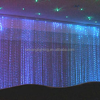 Shenzhen Factory Fibre Optic Led Curtain Fiber Waterfall Lighting