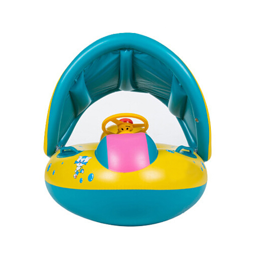 Cartoon design Seat Child Car Shaped Swim Ring / Inflatable Boat Swimming / Baby Swimming Float