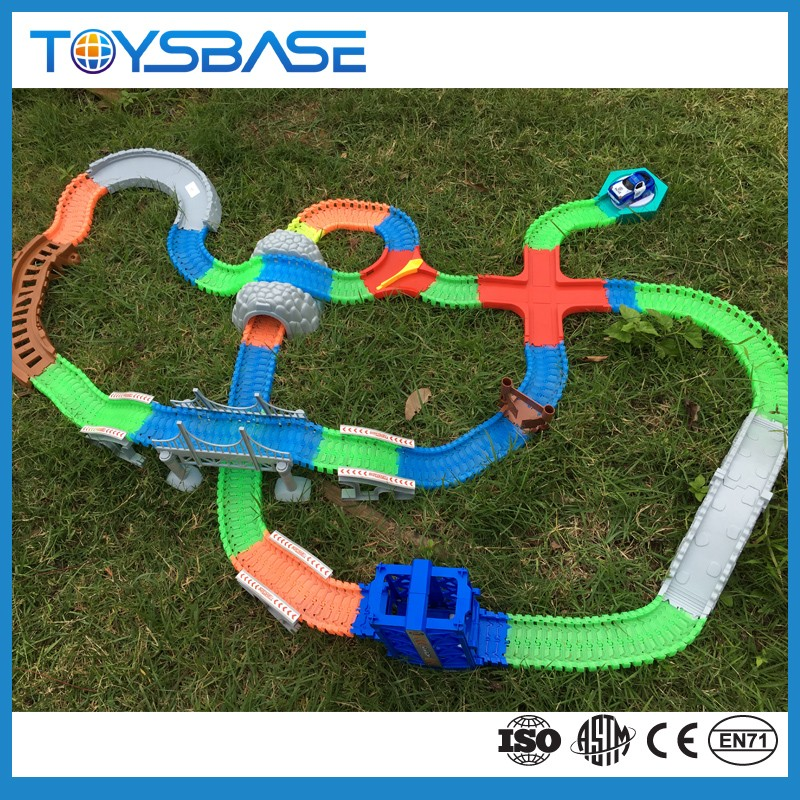 kids toys cars race tracks stunt rubber electric train magic track car toy
