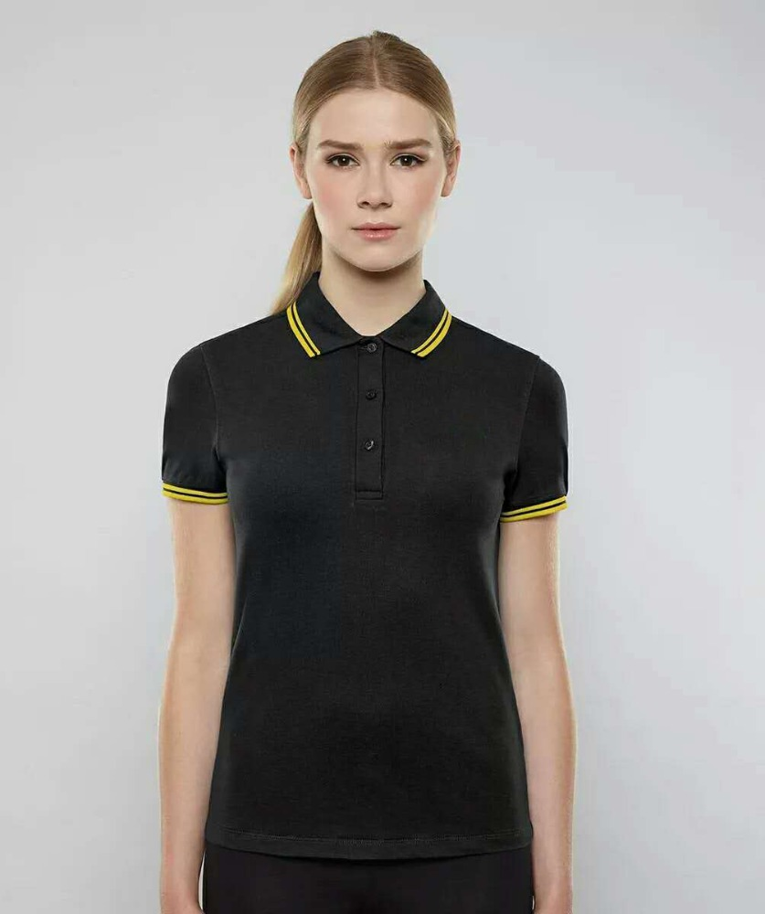 online shipping new design 100%polyester pique fabric dri fit slim factory price polo shirt for women with logo custom t-shirt