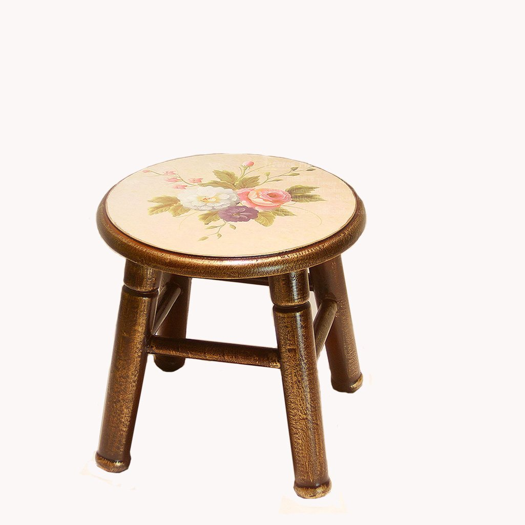 AIDELAI Stool chair Solid Wood Stool Fashion Creative Sofa Stool Solid Wood Stool Home Modern Garden Stool Coffee Table Stool Change Shoes Stool Saddle Seat (Color : A)