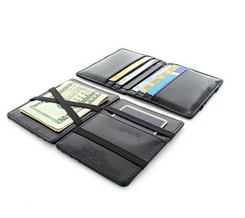 huge discount 7e913 051ee Small Size Leather Magic Wallet Card Holder With Elastic Bands - Buy Card  Holder With Elastic Bands,Magic Wallet Card Holder,Small Size Leather Magic  ...