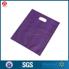 cheapest LDPE/HDPE purple color plastic die cut handle shopping bag