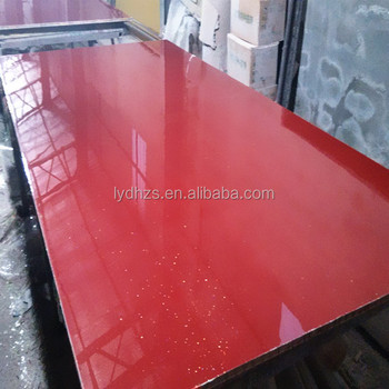 Morden Trend Style Red Color Kitchen Cabinet With Uv Acrylic Surface