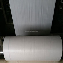 high quality white polypropylene woven tubular laminate fabric in roll 100% olefin fabric