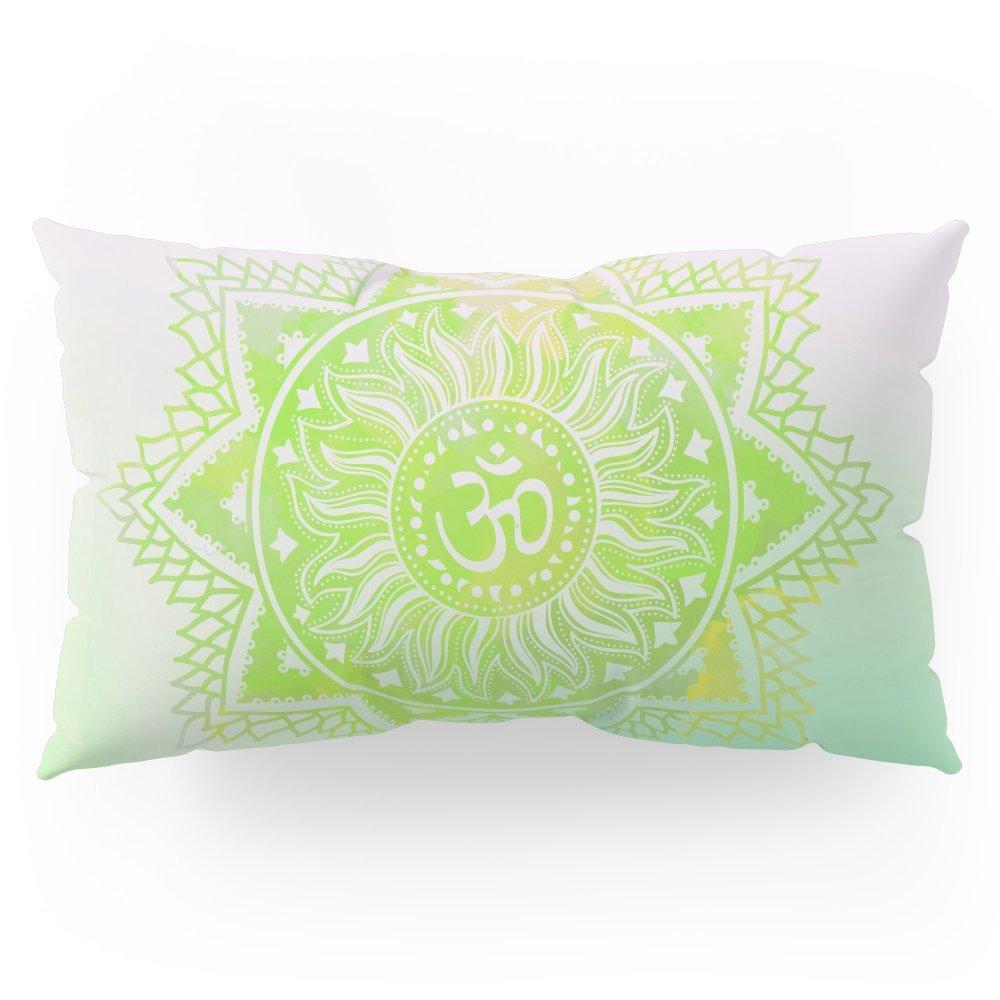 "Society6 Aum Lotus Pillow Sham King (20"" x 36"") Set of 2"