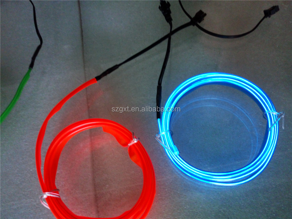 Luminous Lighted El Wire With Welt For Shirts Hoodie Bags Cars - Buy ...
