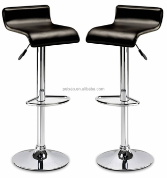 Brilliant Black Pvc Simple Chrome Leg Kitchen Counter Bar Stools Buy Kitchen Counter Bar Stools Chrome Bar Stools Simple Bar Stool Product On Alibaba Com Machost Co Dining Chair Design Ideas Machostcouk