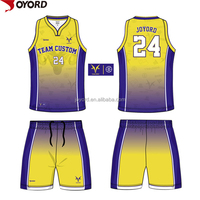 High quality custom color blue red yellow and green basketball jersey uniform design