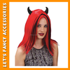 sexy women red devil wig synthetic wig halloween party wig
