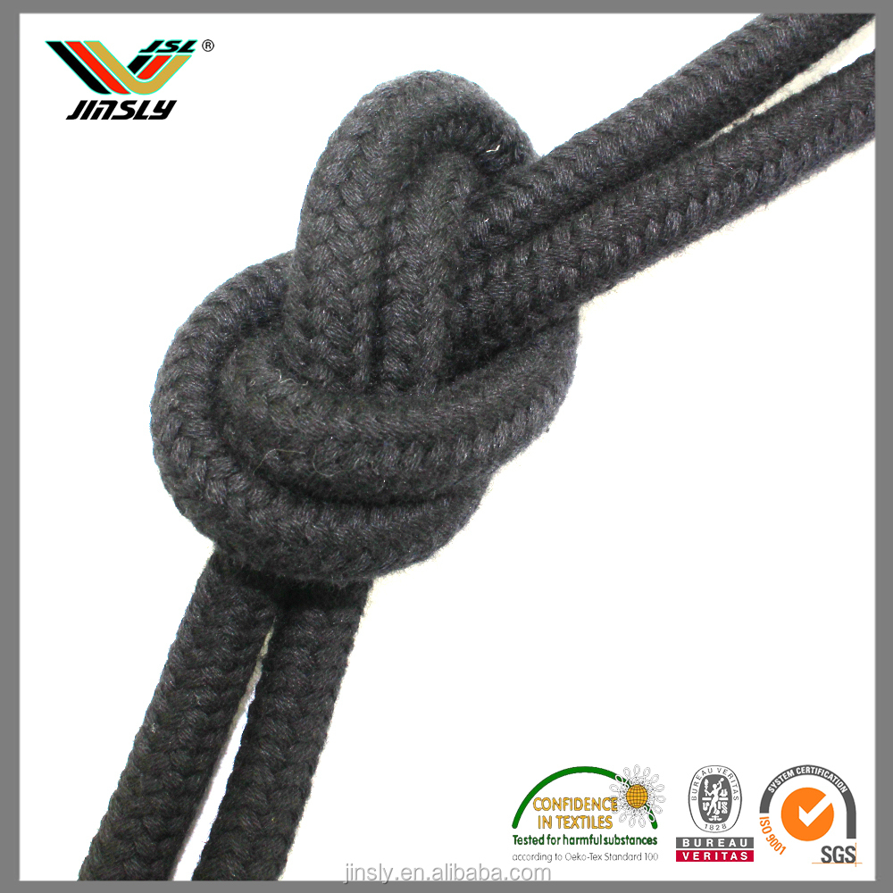 Woven packaging soft rubber cord flat black 2mm round latex latex elastic cord