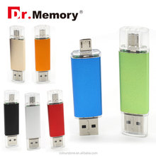 Dr.memory fast speed 2 IN 1 OTG metal usb flash drive 2.0/3.0 for android ophone and PC