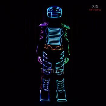 Robot Costume Maker Led Luminous Clothing Light Up Halloween ...