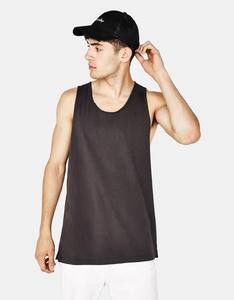 2018 New Design Custom Logo 100% Cotton Fashion Teens Boys Tank Tops OEM Men Gym Streetwear Sleeveless Blank Colorful Tank Top