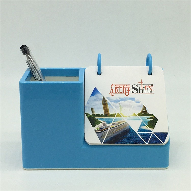 Wholesales Customized Colorful Acrylic Pen Holder with Calendar