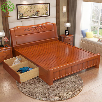 Full Size Wooden Bed With Storage Drawers Buy King Size Bed