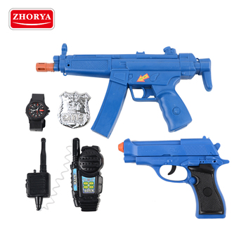 zhorya kids battery operated plastic toy gun police play set