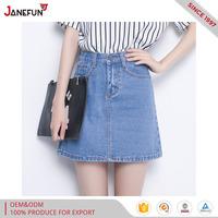 short knee jeans skirt for summer