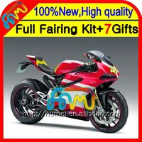 Body red white 46 # Fairing For DUCATI panigale 1199 1199S 12-13 11CL31 2012 2013 12 13 1199 1199S Injection Kit NEW RED