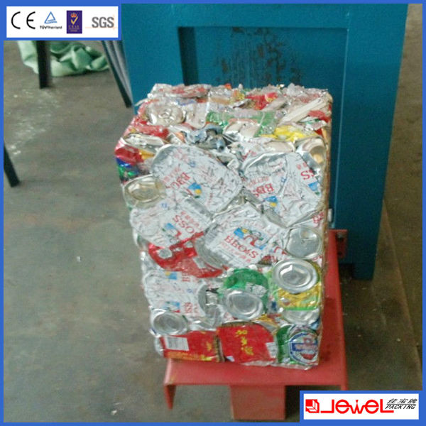 With conveyor feeding Automatic Horizontal Aluminum can baling press