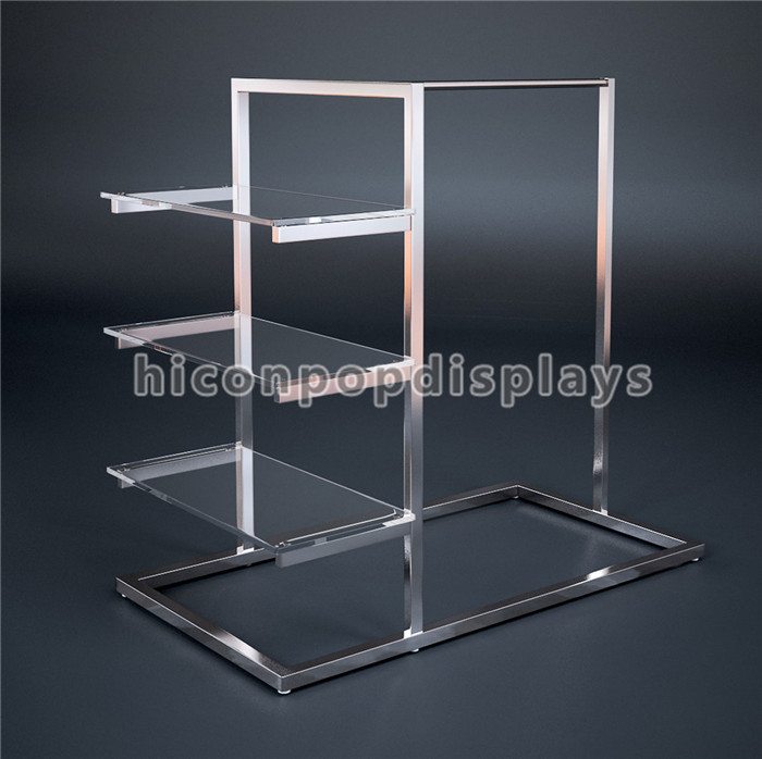 Floorstand Stainless Steel Frame Glass Shelving Fashion Boutique ...
