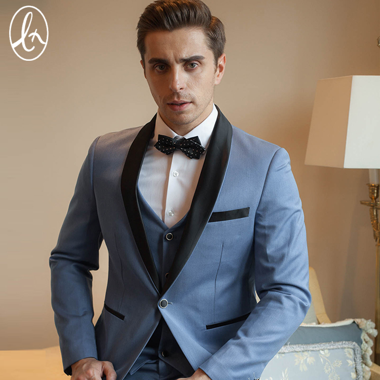 No:220 Fixing Prices According To Quality Of Products jacket+pants+tie Self-Conscious Burgundy With Black Lapel Mens Dinner Party Prom Suits Groom Tuxedos Groomsmen Wedding Blazer Suits