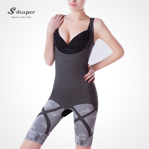 S-SHAPER As Seen On TV Bamboo Charcoal Bodysuit Wholesale Women Natural Full Body Shapewear