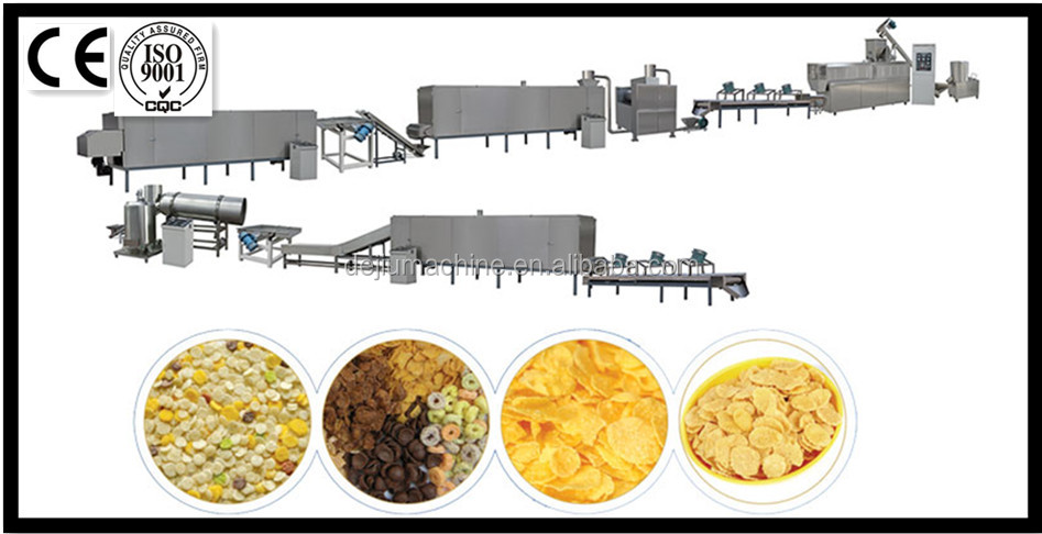 Corn Flakes Extruding Machine Breakfast Cereal Oat Snacks extryder Processing Line