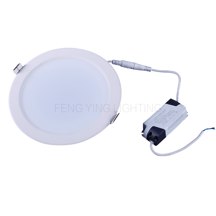 Aluminum+PC SMD 5730 cutout 170-180mm 6 inch ceiling recessed round slim led <strong>downlight</strong>