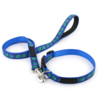Paw Shape Style Running Dog Shape Series Jacquard Pet Collar and leashes