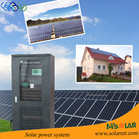 50kw solar energy plant 50000w solar power station 5kw home solar panel system 5 years warranty