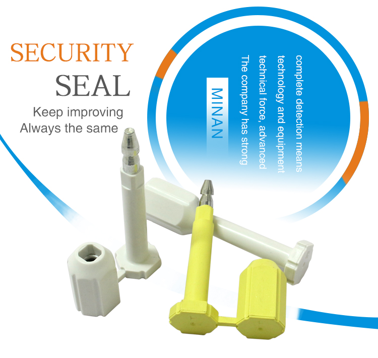 MA - BS 9014 High security shipping safety economic serialized tamper-proof bolt seals