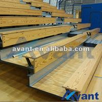 classic wooden bleacher chair indoor sports equipment for basketball softball entertainment sports games