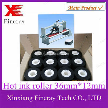 Hot Solid Ink Roller/hot ink roll/hot ink wheel for date code marking machine/Coding date foil/hot foil ribbon jumbo roll