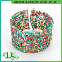 Fashion mixed colors handmade seed bead bracelet bangle bracelet