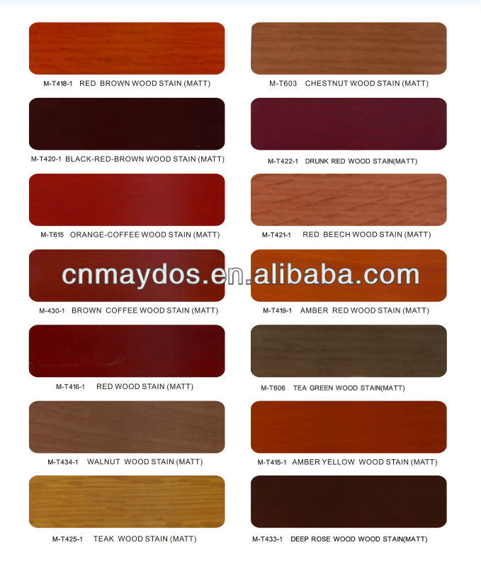 Maydos Environment Friendly Oil Based Transparent Colors Wood Stain