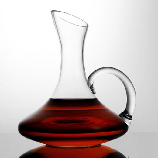 1100ml Cổ Điển Chì miễn phí tinh thể màu đỏ rượu vang decanter set với xử lý
