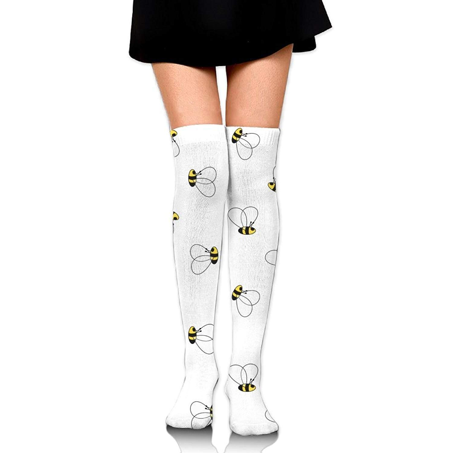 Zaqxsw Honeybee Cute Women Cool Thigh High Socks Thermal Socks For Ladies