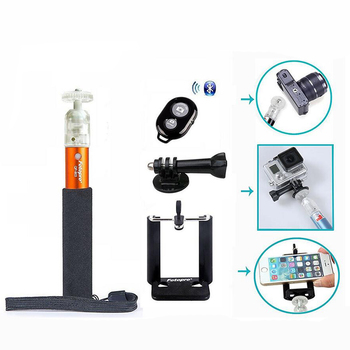New CELLer Fotopro Portable Extendable Mini Monopod + Adjustable Phone Holder + Bluetooth Wireless Remote Shutter + Monopod Moun