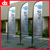 Durable knitted polyester feather flags with pole